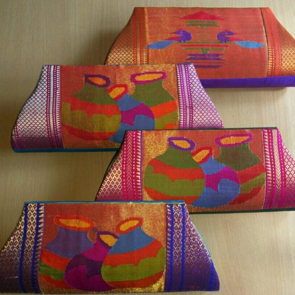 Pure paithani clutches