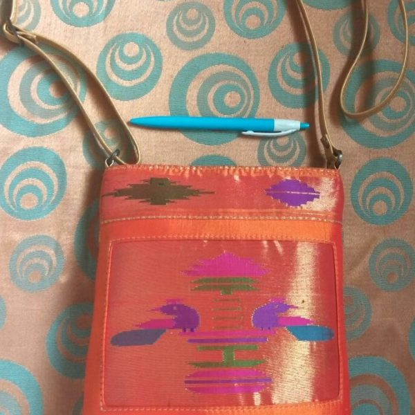 Pure paithani sling bag