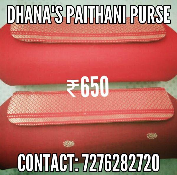 Paithani zari clutch