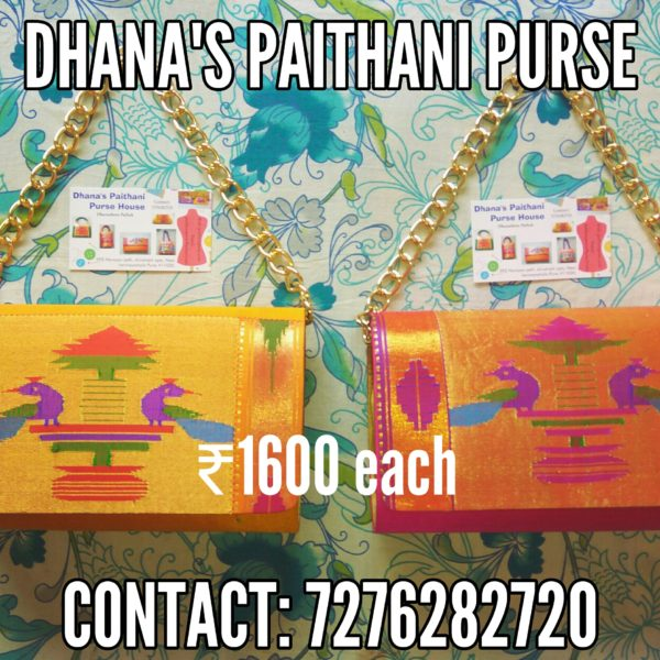 Pure Paithani Round box clutch