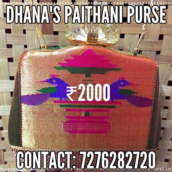 Pure paithani fancy purse 2