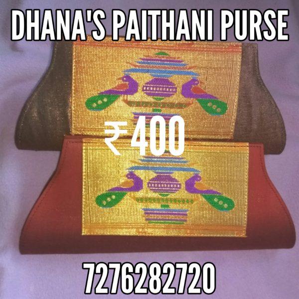 Semi Paithani clutch
