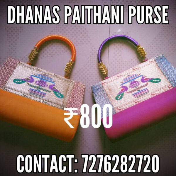 Semi paithani medium size handbag
