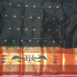 Black_Paithani_Kurti Material