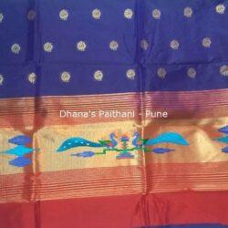 Blue_Semi_Paithani_Kurti Material