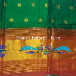Green_Semi_Paithani_Kurti Material