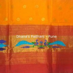 Orange_Semi_Paithani_Kurti
