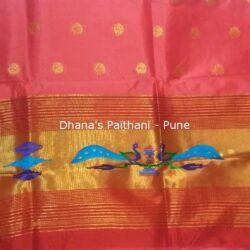 Pink_Semi_Paithani_Kurti Material