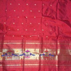 Red_Paithani_Kurti Material